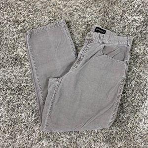 Men's Eddie Bauer Gray Corduroy Pants Size 38X32